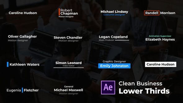 Videohive Clean Business Lower Thirds Free Download