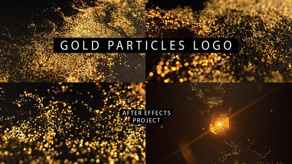 Videohive Gold Particles Logo 26580796 Free Download