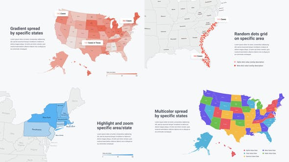 Videohive USA Map Infographics Free Download