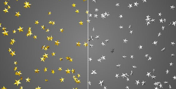 Gold and Silver Stars Falling Overlay Set by FXBoxx | VideoHive