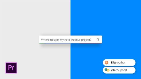 Videohive Simple Search Logo Premiere Pro Template 26682014 Free