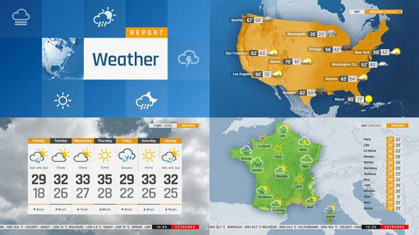 Videohive The Complete World Weather Forecast ToolKit Free Download
