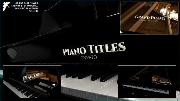 Videohive Piano Titles Free Download
