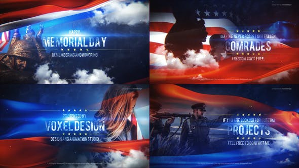 Videohive Memorial Day Title Free Download