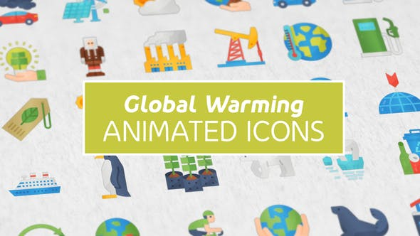 Videohive Global Warming Modern Flat Animated Icons Free Download