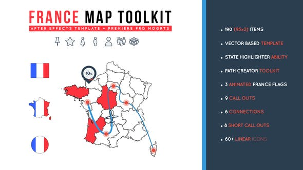 Videohive France Map Toolkit Free Download