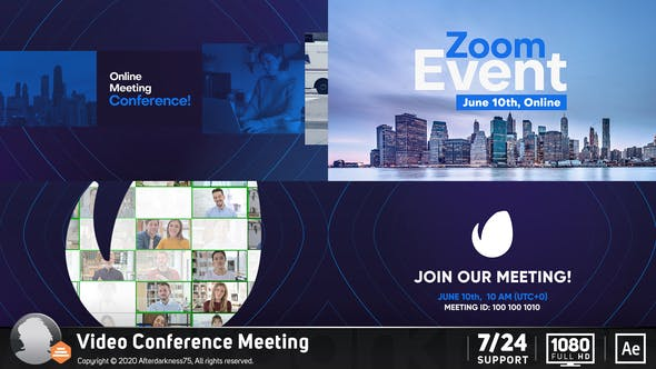 Videohive Video Conference Online Zoom Meeting Free Download