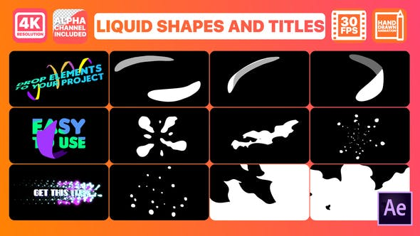 Videohive Liquid Shapes And Titles | After Effects Free Download
