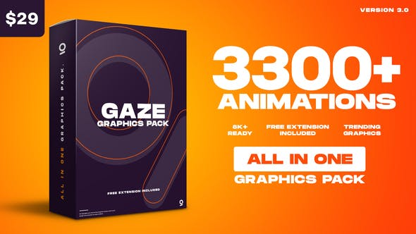 AnimationStudio Videohive Gaze – Graphics Pack v3.0 25010010
