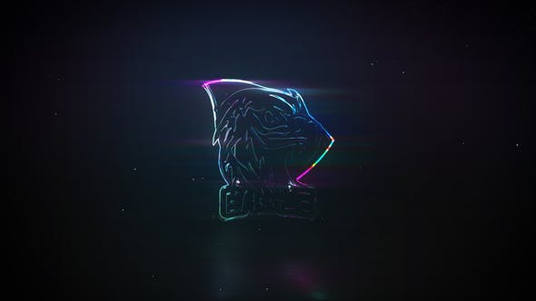 Videohive Neon Glass – Glitch Logo Reveal 27170713 Free