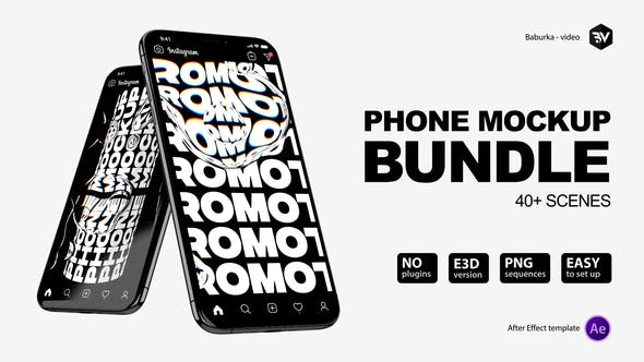 Videohive Phone Mockup Bundle 26433855 – After Effects Project Files