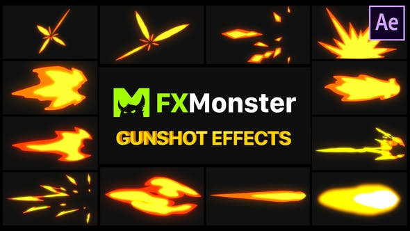 Videohive Gunshot Effects – After Effects 27490310 Free
