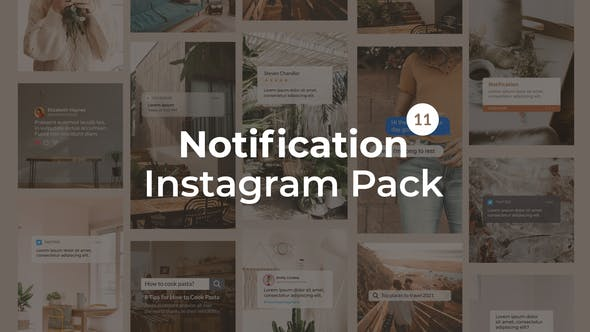 Videohive Notification Instagram Pack Vertical and Square 27562957 Free