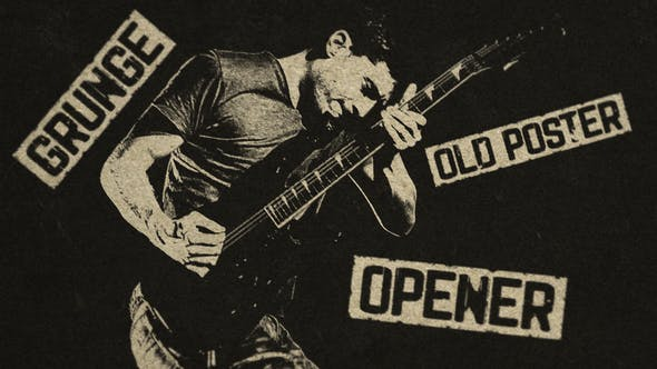 Videohive Grunge Old Poster Opener 27578965 Free
