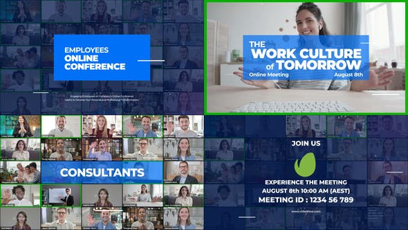 Zoom Meeting After Effects Templates From Videohive