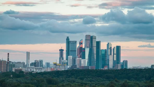 Moscow Skyline And City Skyscrapers By Andrei Ap Videohive