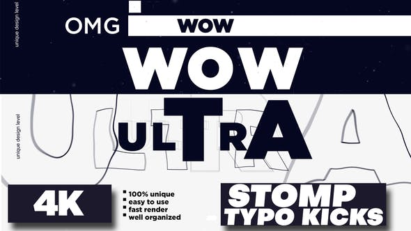 Videohive Stomp – Typo Kicks 28278738 – After Effects Project Files