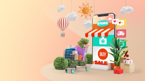 Videohive – Mobile Online Shopping AE Project – 28782295 Free Download