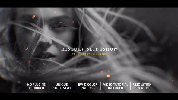 Videohive History Slideshow In Photos 28253008 – After Effects Project Files