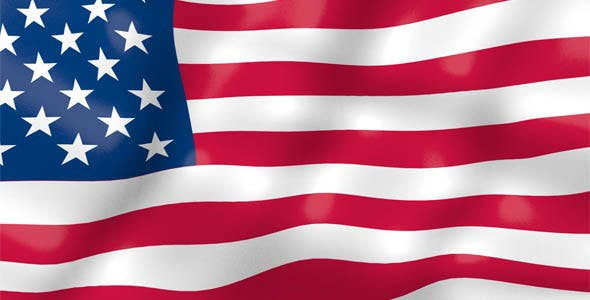 United States Flag Wave Animation by rsvp2u | VideoHive