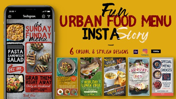 Videohive – Fun Urban Food Menu Instagram Stories 29556426