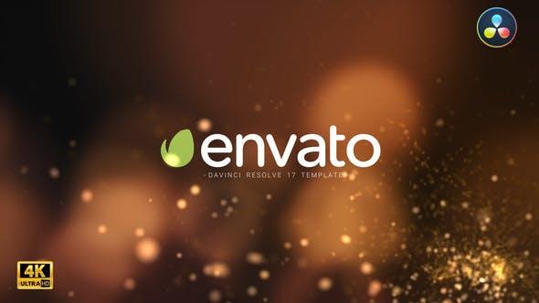 Particle Burst Logo Reveal DaVinci Resolve