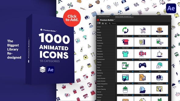 Videohive – PremiumBuilder Animated Icons – 29506116 ( Last Update 28 January 21)