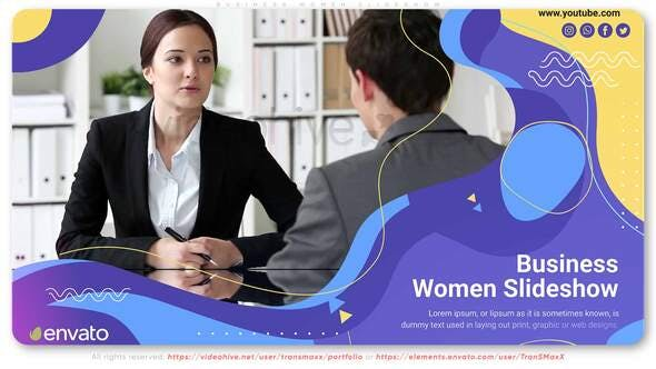 Videohive – Business Women Slideshow 30861070