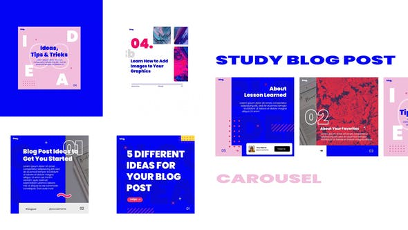 Videohive – Study blog post carousel instagram 30881843