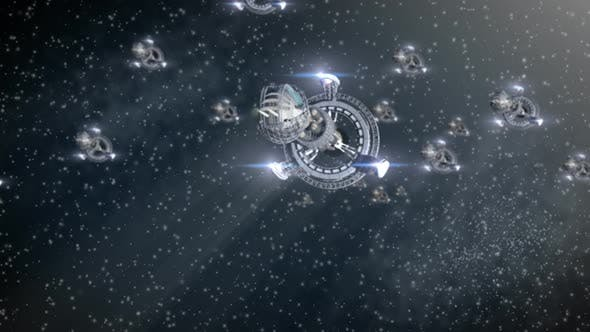 Alien Spaceships Invasion by 3000ad | VideoHive