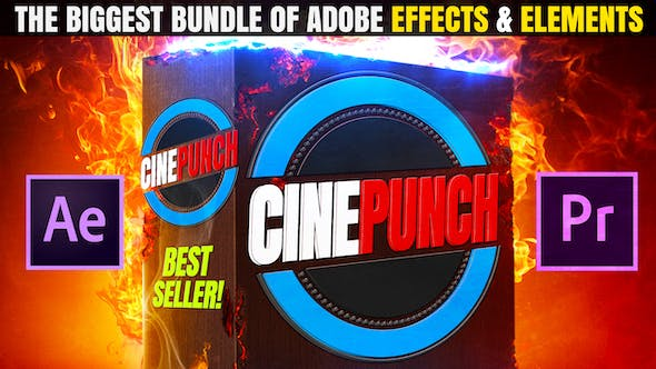 CINEPUNCH I Biggest Bundle of After Effects & Premiere Pro Effects & Tool Packs for Video Creators