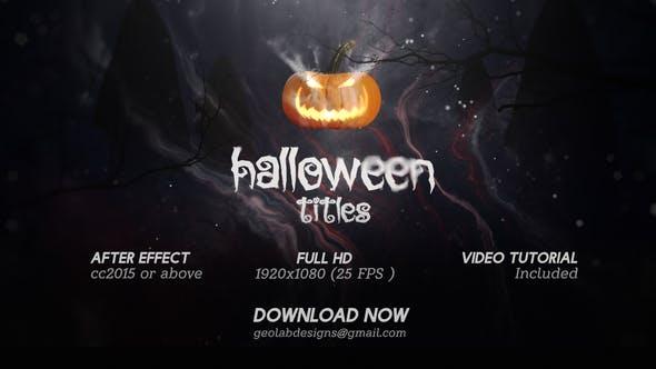 Halloween Trailer l Horror Trailer l Pumpkin Scary l Ghost Teaser - 3