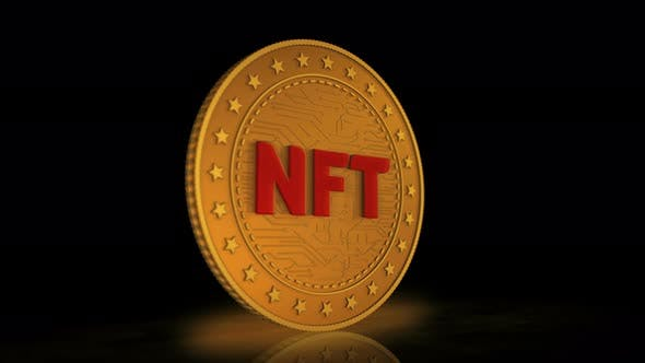 NFT Crypto art golden coin 3d by Vipho | VideoHive