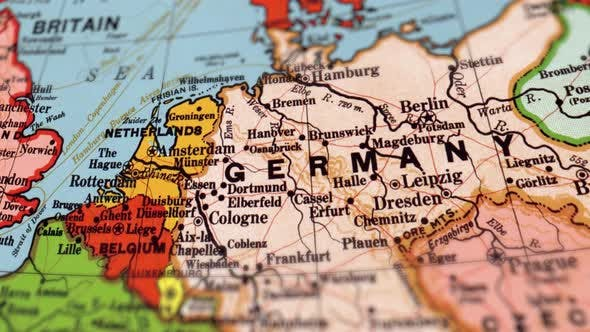 Germany On A Map Germany On World Map by FootageStock | VideoHive