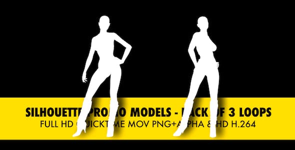 Silhouette Models - Pack Of 3 Loops by VideoMagus | VideoHive
