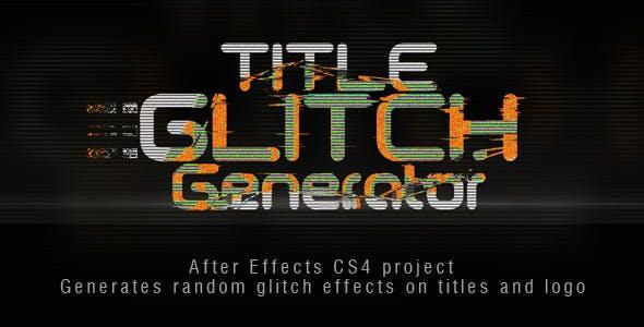 Title Glitch Generator by Permaloop | VideoHive