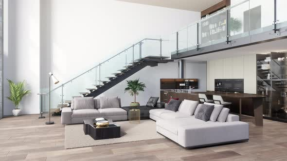 Luxury Living Room With Sofa Open Plan, Living Room W