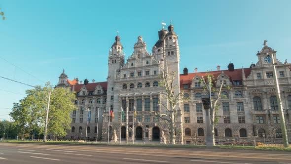 Hyprlapse Of The Leipzig New Town Hall Germany Saxony By Babypuzik