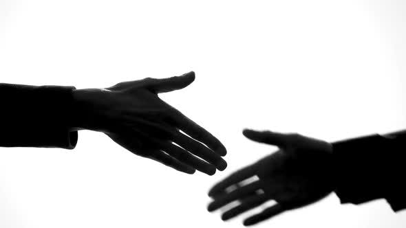 Man And Woman Shaking Hands Business Deal Work Cooperation Unity Symbol By Motortion