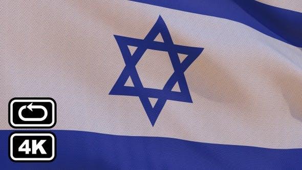 Israel Flag 4K Seamless Loop by HaeroTV | VideoHive