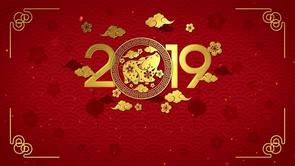 Chinese New Year 2019 Background by VictoryBox   VideoHive