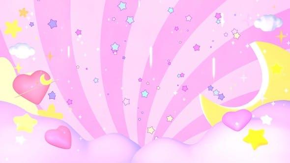 Kawaii Pink Sky by tykcartoon   VideoHive
