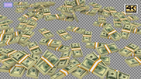 Videohive – Money Stack A5 4K 30557597