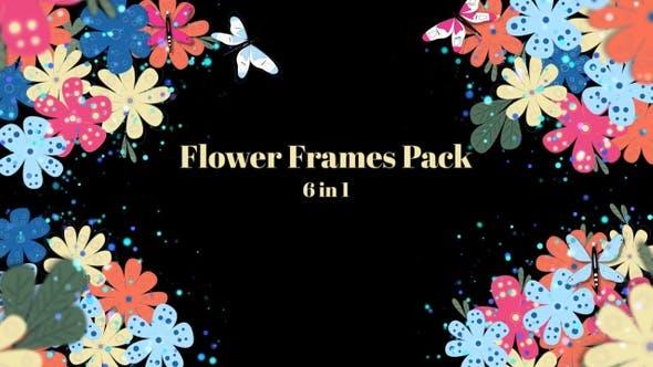 Videohive – Flower Frames – 6 In 1 30559511