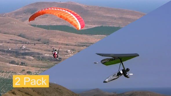 Hang Glider and Paraglider by GoodMan_Ekim | VideoHive