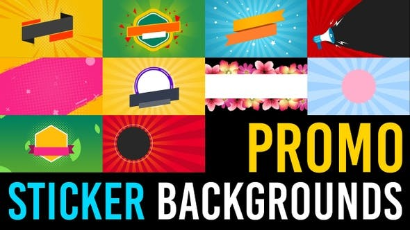 Videohive – Promo Sticker Backgrounds 30398704