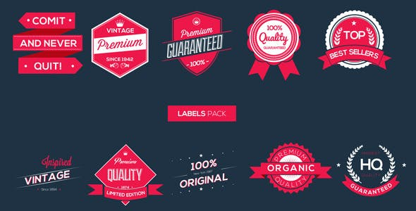 Videohive Labels Pack Free Download