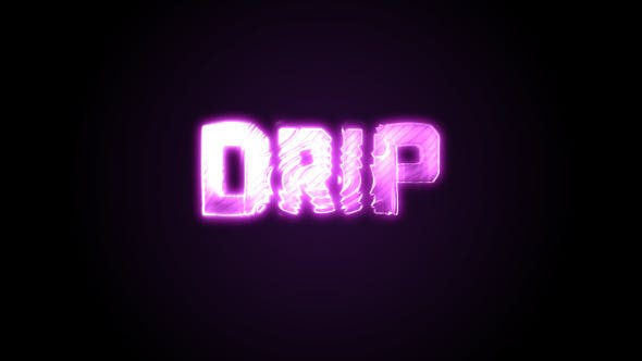 Dripping Text After Effects Templates from VideoHive