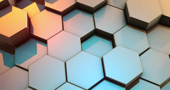Loop Abstract Colorful Hexagon Honeycomb Background by Trezvuy