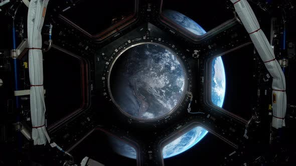 Earth View Spaceship - 5 by thunpax | VideoHive